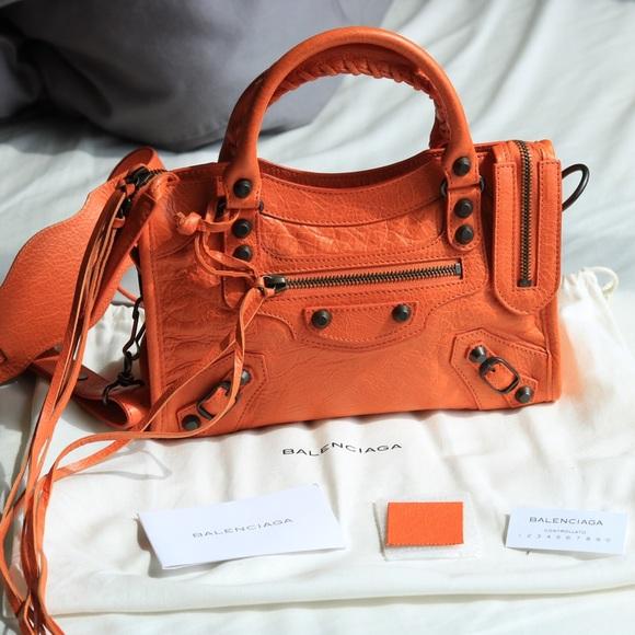006db125b394 Balenciaga Handbags - Balenciaga Mini City in Tangerine 2013 S S